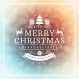 圣诞快乐贺卡光和 图库摄影
