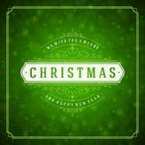 圣诞快乐贺卡光和 库存图片