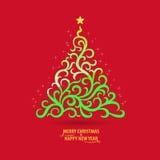 圣诞快乐贺卡 免版税图库摄影