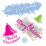 圣诞快乐类型的例证 免版税库存照片