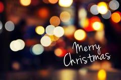 圣诞快乐-抽象光设计 免版税库存照片