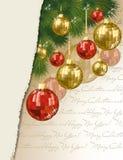 圣诞快乐&新年好横幅,传染媒介 免版税库存照片