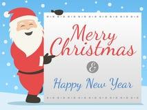 圣诞快乐&新年快乐 库存例证