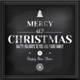 圣诞快乐黑板设计 免版税图库摄影