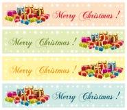 圣诞快乐!欢乐商业横幅。 免版税库存图片
