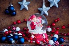 圣诞快乐玻璃球 图库摄影