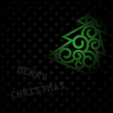圣诞快乐黑色卡片 图库摄影