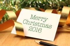 圣诞快乐2016年 免版税库存照片
