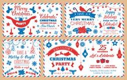 圣诞晚会信封,假日装饰 向量例证