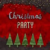 圣诞晚会卡片设计 免版税库存照片
