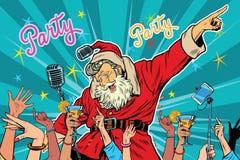 圣诞晚会圣诞老人歌手 皇族释放例证