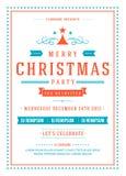 圣诞晚会邀请海报设计传染媒介 向量例证