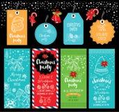 圣诞晚会邀请 另外的卡片形式节假日 皇族释放例证