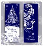 圣诞晚会邀请 圣诞节假日飞行物或海报设计 向量 皇族释放例证
