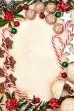 圣诞晚会食物 库存照片