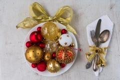 圣诞晚餐利器 图库摄影