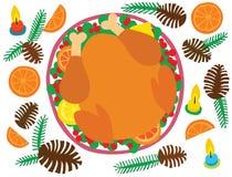 圣诞晚餐土耳其 向量例证