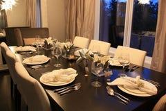 圣诞晚餐的时刻 免版税库存照片