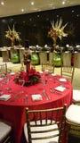 圣诞晚餐的装饰 免版税图库摄影