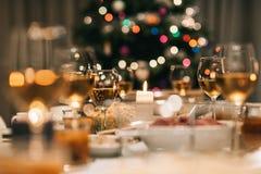 圣诞晚餐宴餐 图库摄影