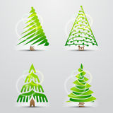 圣诞树。 套向量签字(图标) 免版税库存照片