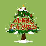 圣诞树与圣诞节结婚 免版税库存照片
