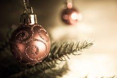 圣诞树中看不中用的物品 免版税库存图片