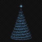 圣诞树传染媒介例证 库存图片