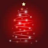 圣诞树传染媒介设计 库存图片