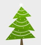 圣诞树传染媒介 免版税图库摄影