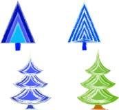 圣诞树例证 库存照片