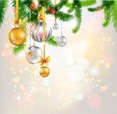 圣诞树光背景 向量例证