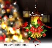 圣诞树光背景 免版税图库摄影