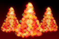 圣诞树光 免版税库存照片