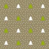 圣诞树冬天样式 库存例证