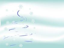 圣诞树冬天 皇族释放例证