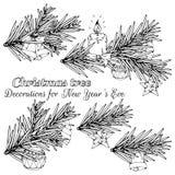 圣诞树剪影 库存照片