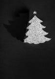 圣诞树半删节从纸张 免版税库存图片