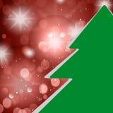 圣诞树卡片 免版税库存图片