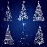 圣诞树反对形象艺术 库存例证