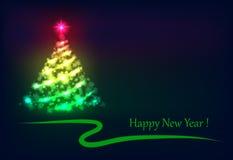 圣诞树发光 免版税库存照片