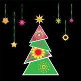 圣诞树向量x-mas设计要素 免版税库存照片