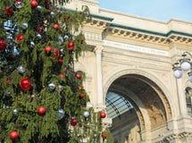 圣诞树和修造致力意大利Victo的国王 库存图片