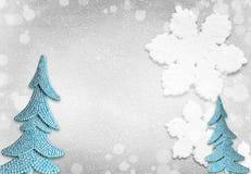 圣诞树和圣诞节抽象背景 库存照片