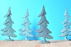 圣诞树和圣诞节抽象背景 免版税库存照片