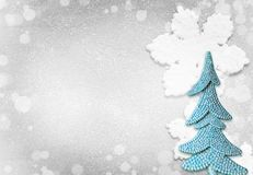 圣诞树和圣诞节抽象背景 免版税库存图片