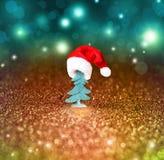 圣诞树和圣诞节装饰背景 图库摄影