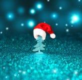 圣诞树和圣诞节装饰背景 库存图片