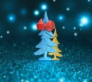 圣诞树和圣诞节装饰背景 库存照片
