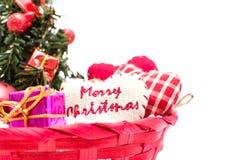 圣诞树和圣诞节装饰 图库摄影